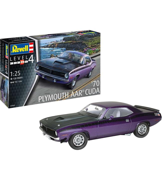 Revell 1970 Plymouth AAR Cuda 1:25 pienoismalli