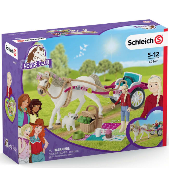 Schleich Horse Club Small Carriage for the Big Horse Show Vaunut hevosnäyttelyyn