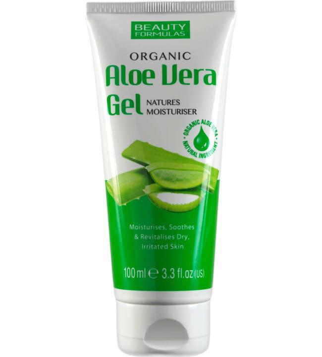Beauty Formulas Aloe Vera 100 ml orgaaninen geeli