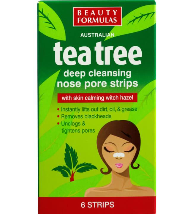 Beauty Formulas Tea Tree mustapäille 6 kpl nenälaput