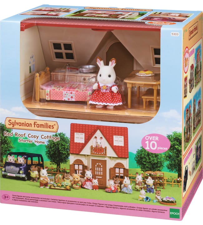 Sylvanian Families Red Roof Cosy Cottage aloitustalo
