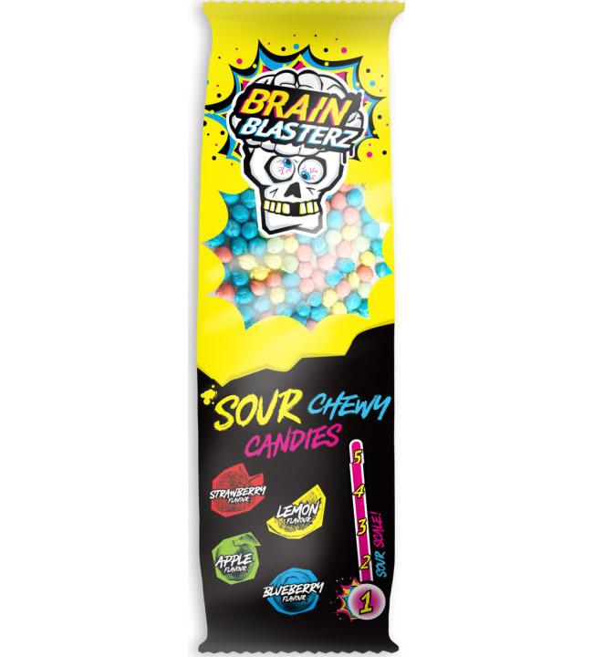 Brain Blasterz Chewy Candy 60 g kirpeät karkkirakeet