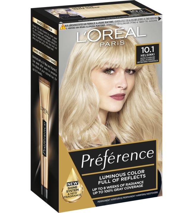 L'Oréal Paris Préférence 10.1 Helsinki erittäin kirkas tuhkanvaalea kestoväri