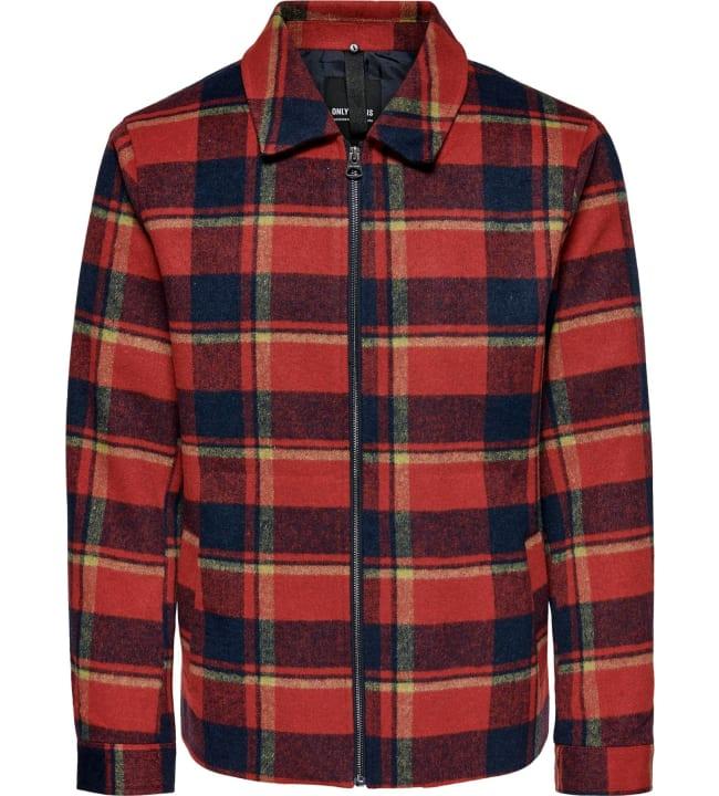 Only&Sons Fischer miesten overshirt-takki