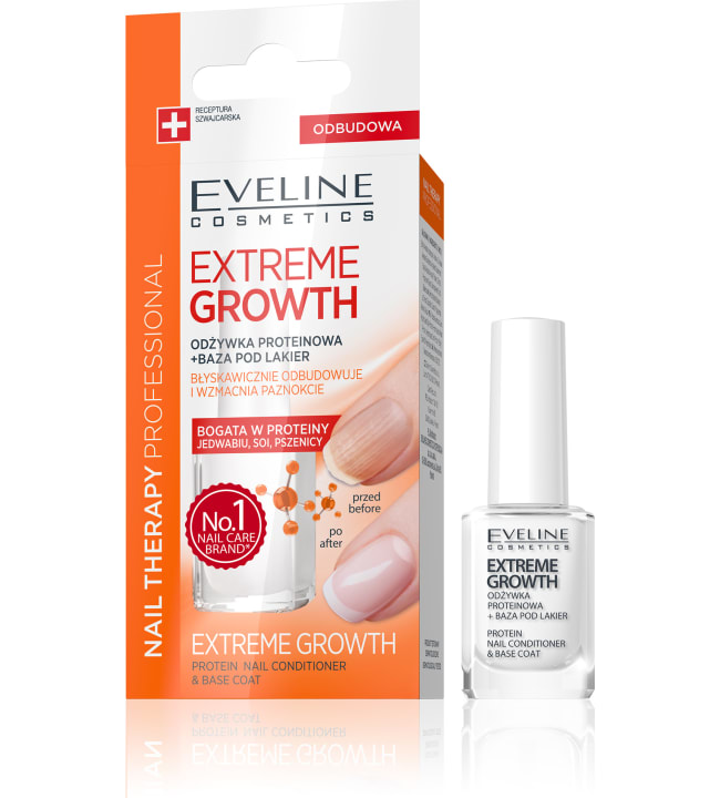 Eveline Nail Therapy Protein Extreme Growth 12 ml kynsien hoitoaine