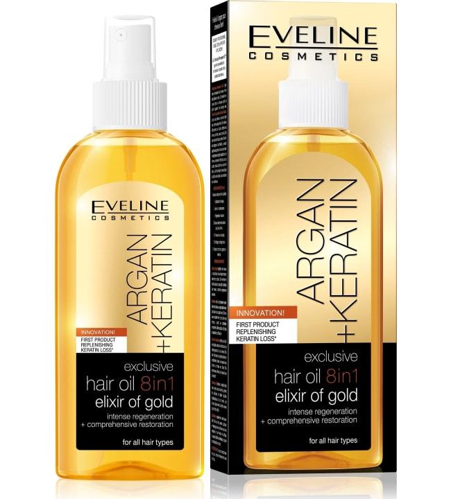Eveline Argan+Keratin 8in1 Exclusive hoitoöljy