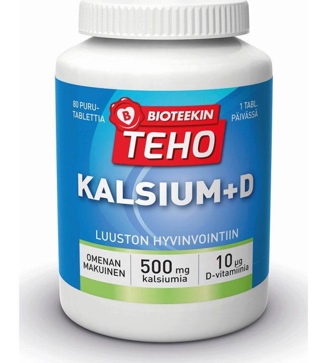 Teho Kalsium + D 80 purutabl. ravintolisä
