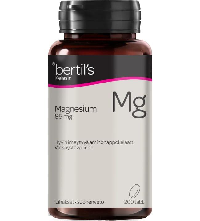 Bertil`s 85mg Kelasin Magnesium 200 tabl ravintolisä