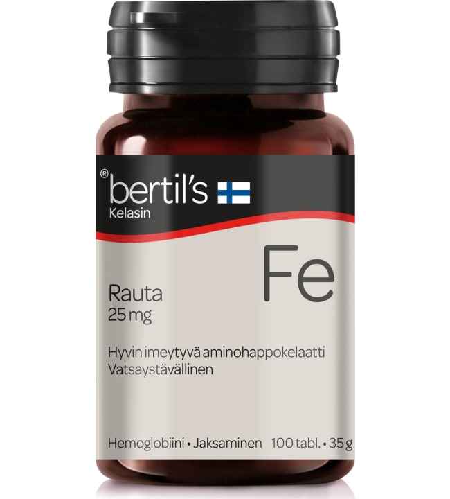 Bertil's Rauta 25 mg 100 tabl. ravintolisä