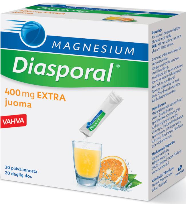 Diasporal magnesium 400 Extra annospussit 20 kpl/126 g