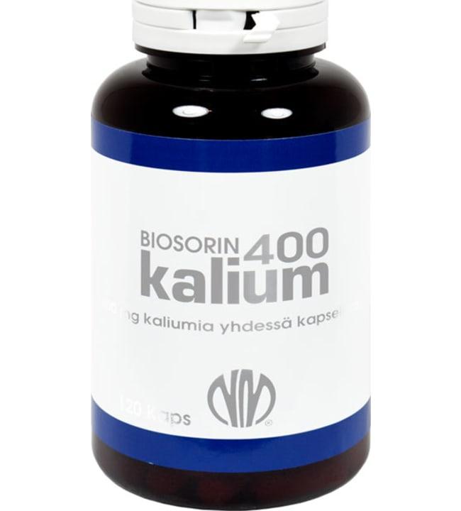 Natura Media Biosorin Kalium 400 mg 120 kaps. ravintolisä