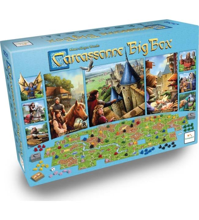 Carcassonne Big Box peruspeli + 9 lisäosaa