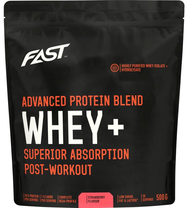 Fast Whey+ Mansikka 500g proteiinijauhe