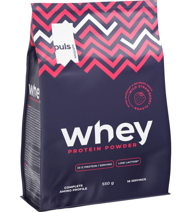 Puls Nutrition Whey Metsämansikka 550 g proteiinijauhe