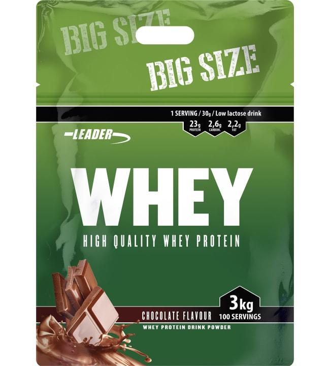 Leader Whey Chocolate 3 kg heraproteiinijauhe