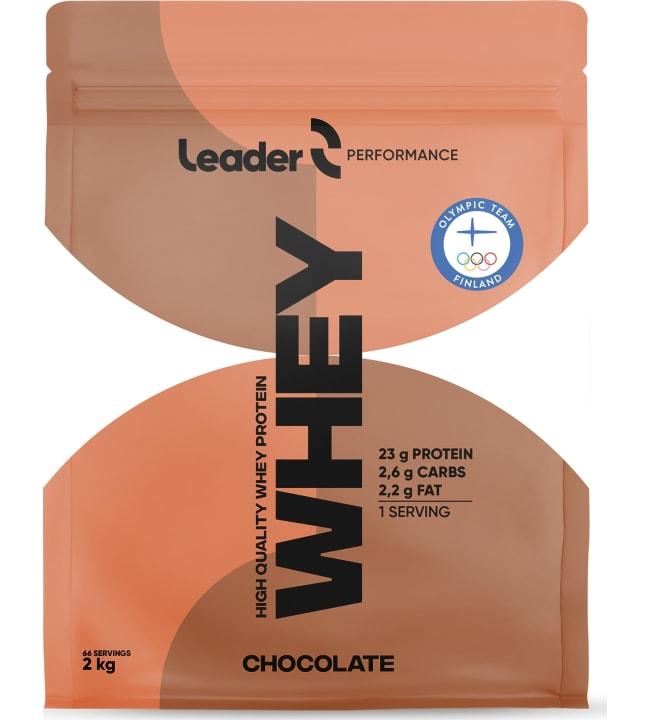 Leader Performance Whey Protein Chocolate 2 kg proteiinijauhe