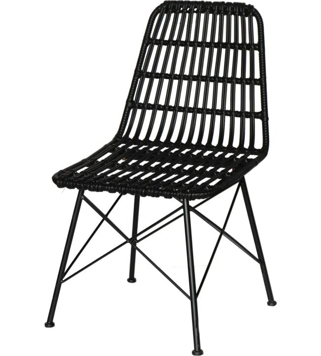 Pihailu Gabriela 1kpl musta tuoli