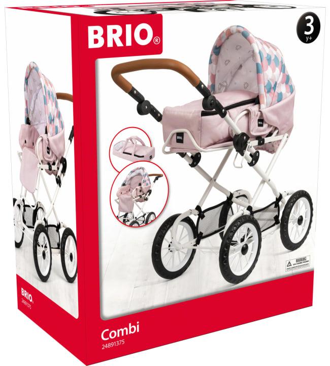 BRIO Combivaunu pinkki / pisara nuken vaunut