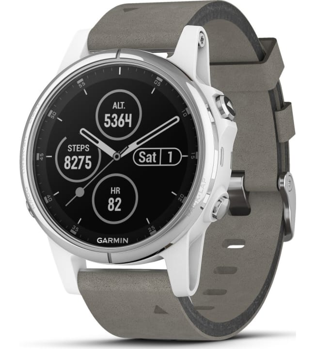 Garmin Fenix 5S Plus Sapphire valkoinen-hopea GPS-multisportkello