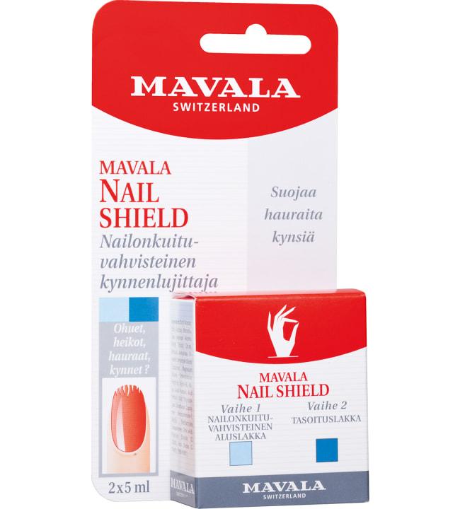 Mavala Nail Shield 2 X 5 ml kaksivaiheinen kynnenlujittaja