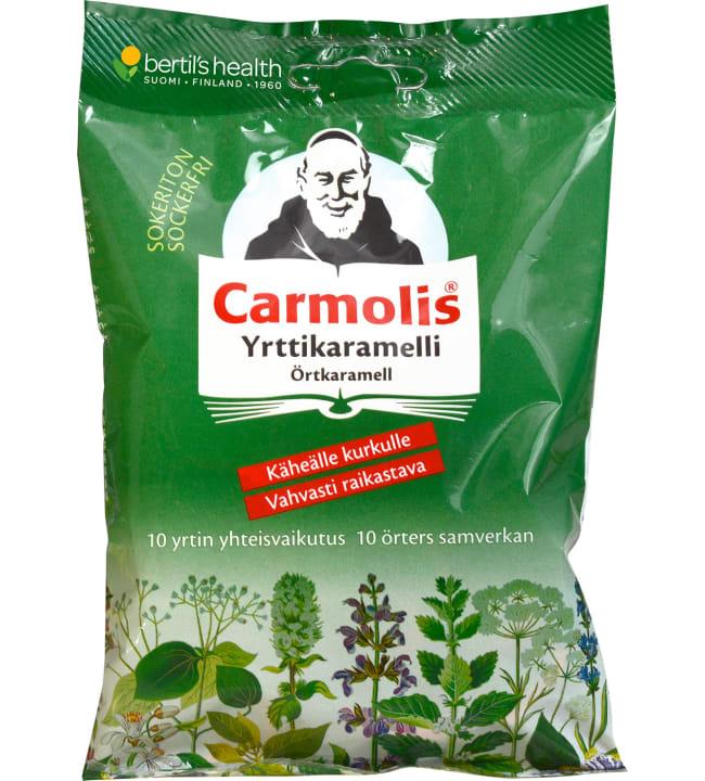 Carmolis 75 g sokeriton yrttikaramelli
