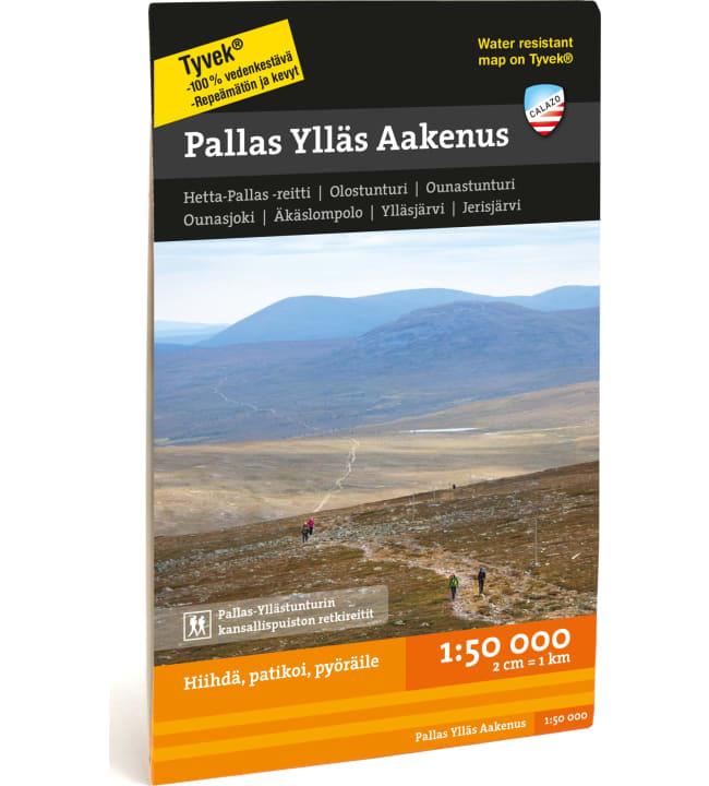 Calazo Pallas Ylläs Aakenus tunturikartta 1:50 000