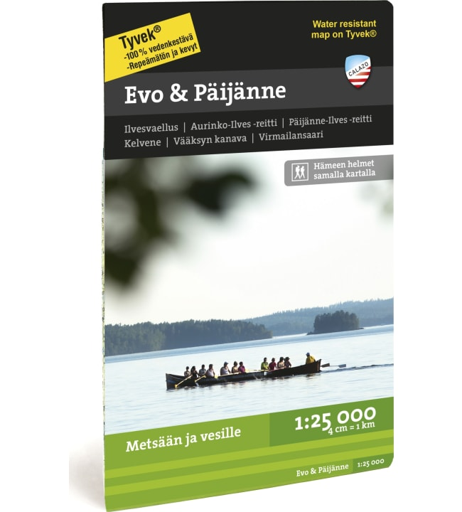 Calazo Evo&Päijänne retkeilykartta 1:25 000