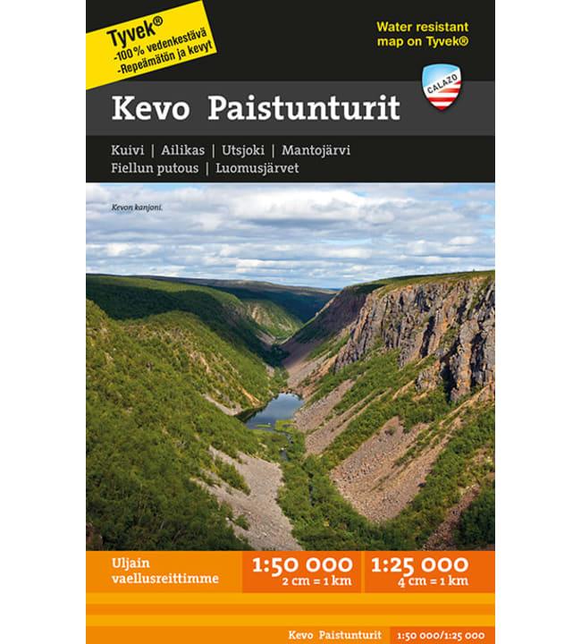 Calazo Kevo Paistunturit tunturikartta 1:50 000+1:25 000