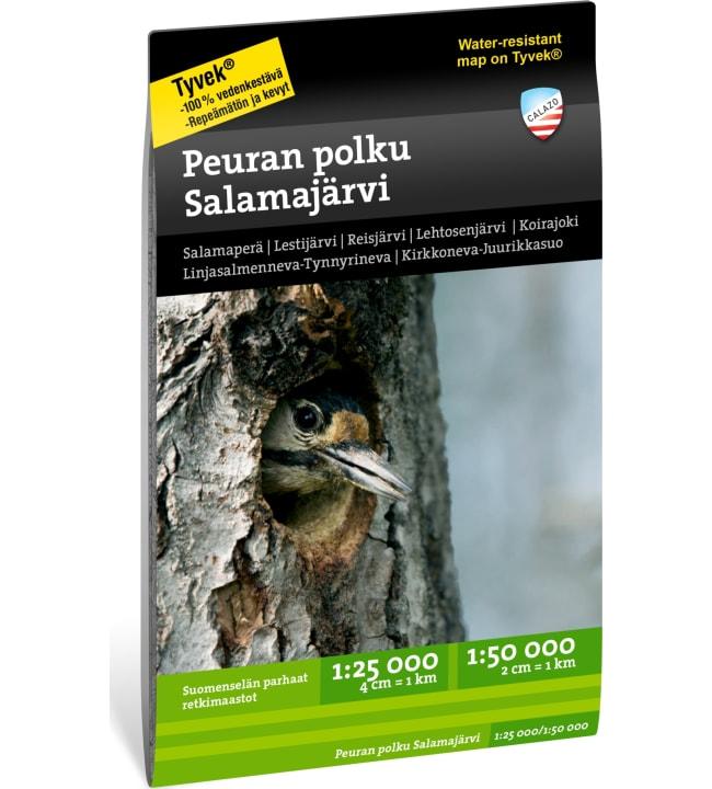 Calazo Peuran polku Salamajärvi 1:25 000 +  1:50 000 retkeilykartta