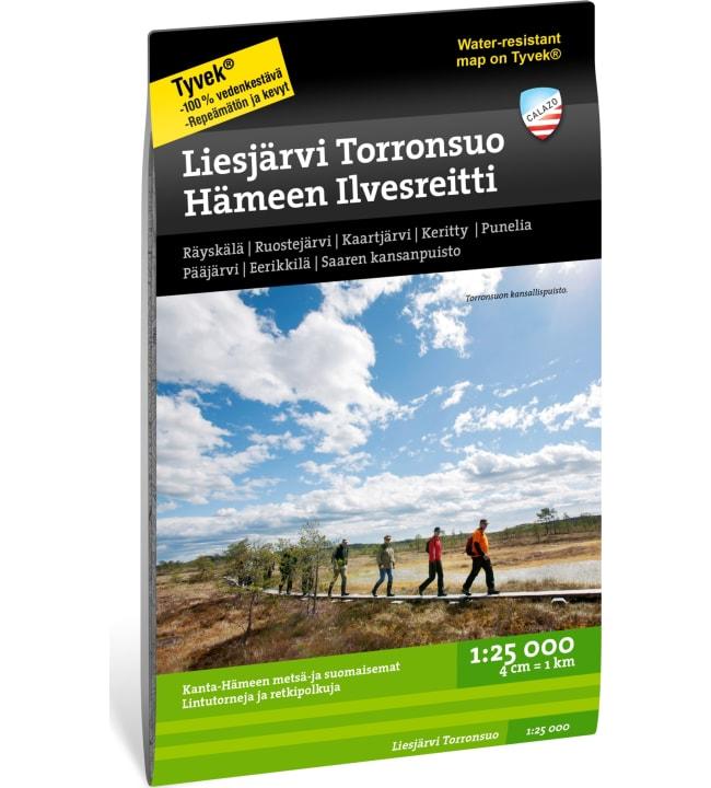 Calazo Liesjärvi Torronsuo 1:25 000 retkeilykartta