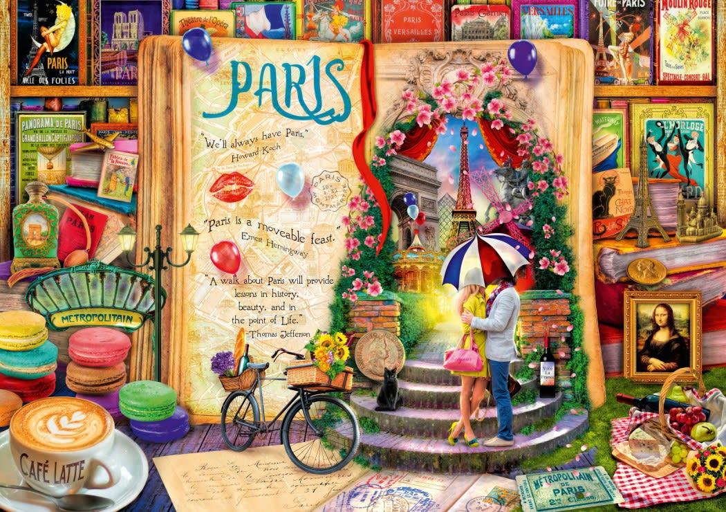 Bluebird Life is an Open Book Paris 1000p palapeli  Karkkainen.com verkkokauppa